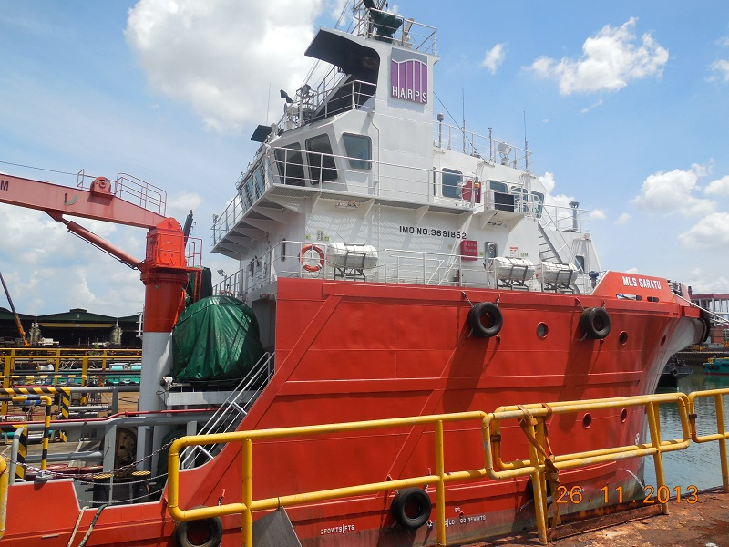 HARPS MARINE TOOK DELIVERY OF ITS FIRST MARINE ASSET - AN ANCHOR HANDLING UTILITY VESSEL INTO NIGERIA